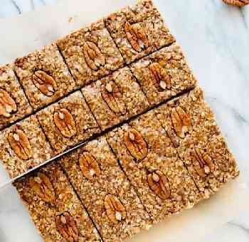 Barres granola aux noix de pacan
