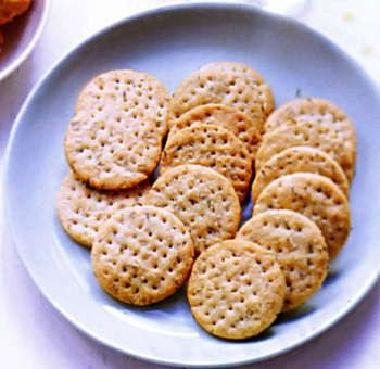 Biscuits apéro thym ail
