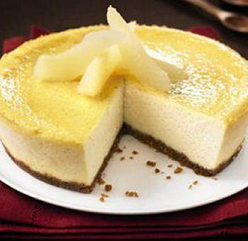 Cheese-cake tofu soyeux et poires