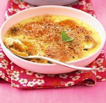Crème brûlée au tofu et aux fruits