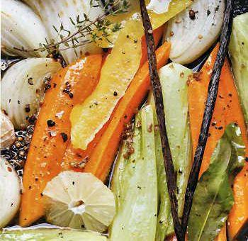 Légumes vanillés en barigoule