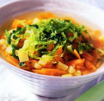 Soupe de légumes au chou