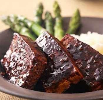 Tofu mariné et ses asperges