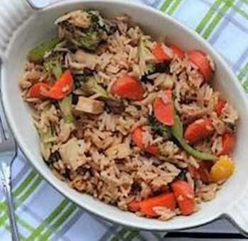 Tofu mariné et riz complet