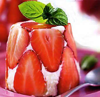 Bavarois coco fraise