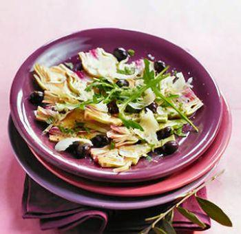 Artichauts violets en carpaccio