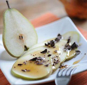 Tranches de poires au chocolat