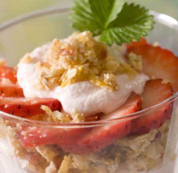 Verrine de fraises et céréales