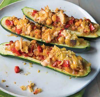 Courgettes farcies végétariennes