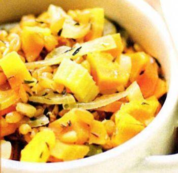 Épeautre aux légumes et aromates