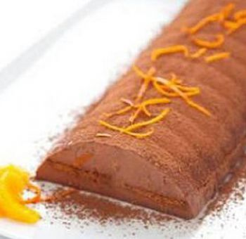 Gâteau glacé speculoos orange