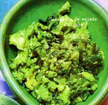 Guacamole de salade d'algues