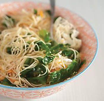 Méli-mélo d'algues et nouilles de riz