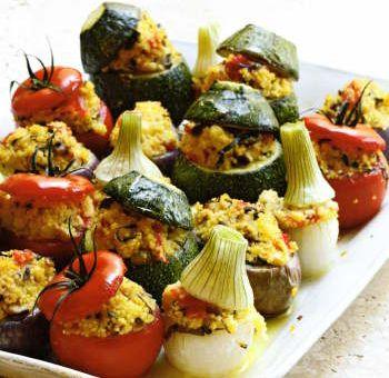 Petits légumes farcis au millet