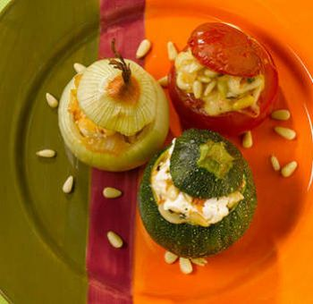 Légumes farcis aux fromages