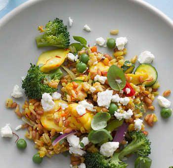 Pilaf aux légumes d'été