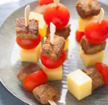 Piques apéritives au tofu