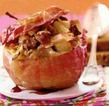Pomme au four sucrée salée