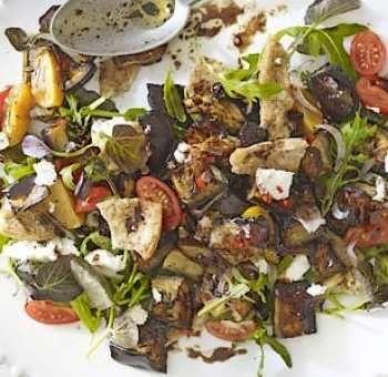 Salade aubergine menthe piment