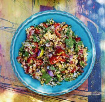 Salade de boulgour et lentilles