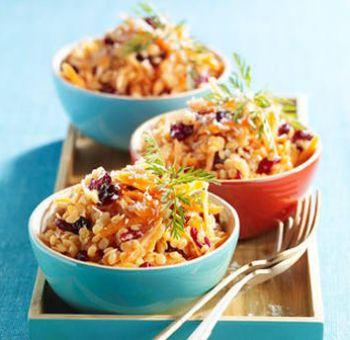 Salade de cranberries et lentilles corail