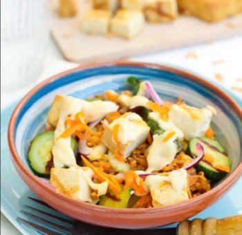 Salade tofu épeautre
