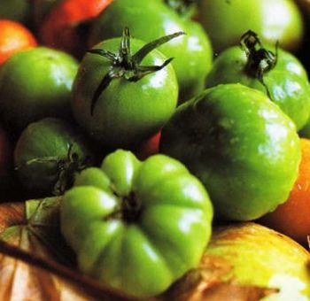 Sauté de tomates vertes