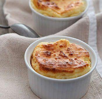 Soufflé fromage de brebis et flocons d'avoine