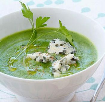 Potage de brocoli au roquefort