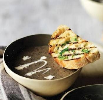 Soupe crémeuse de champignons