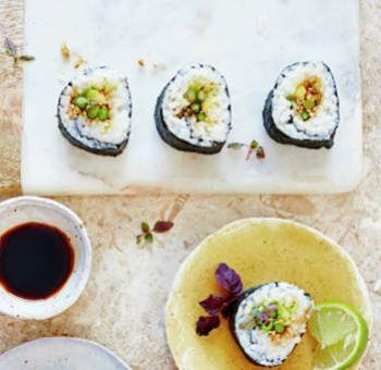 Sushis aux asperges