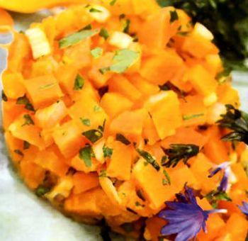 Tartare de carottes aux agrumes