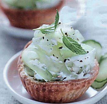 Tartelettes au concombre