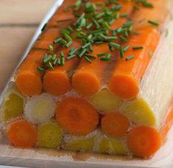 Poireaux carottes en gelée