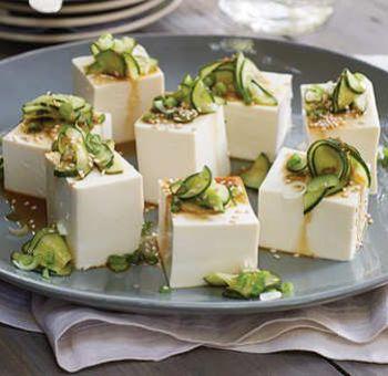 Tofu froid et concombre