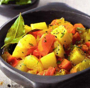 Wok de légumes au curcuma