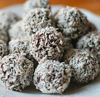 Bouchées végétaliennes au chocolat, noix de coco