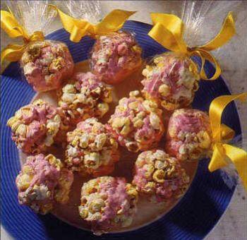 Boules de pop-corn