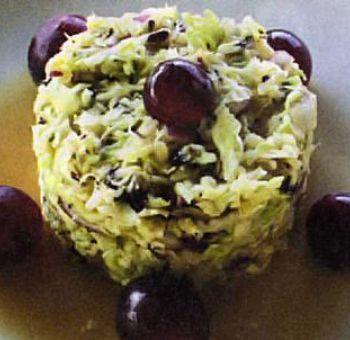 Chou vert à la dulse en salade