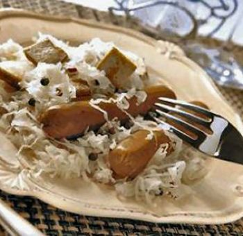 Tofu fumé en choucroute