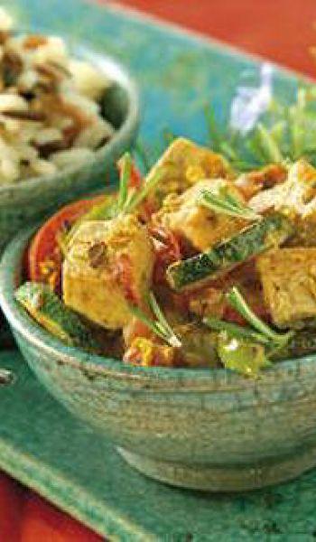 Curry de tofu et petits légumes