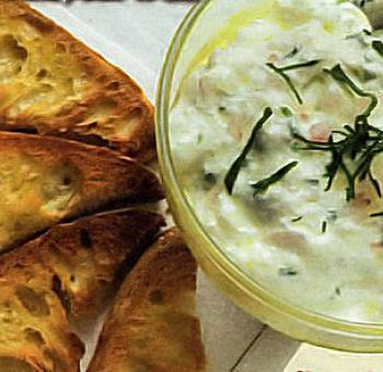 Faisselle de fromage blanc aux herbes