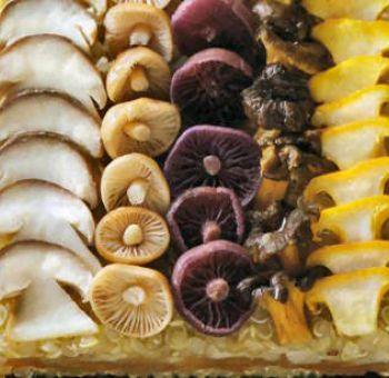 Gateau de céréales aux champignons
