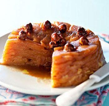 Dessert aux pommes et noisettes