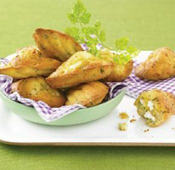 Biscuits madeleines aux herbes