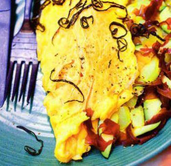 Omelette farcie aux algues