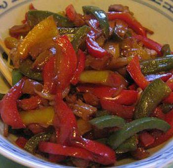 Poivrons sautés à la sauce shoyu