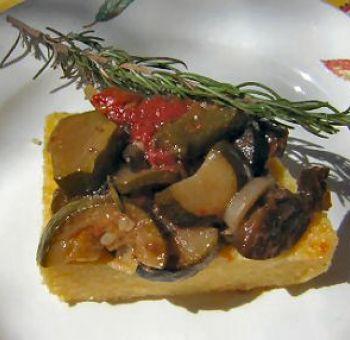 Polenta aux légumes de ratatouille