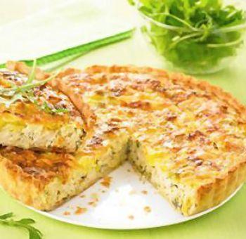 Quiche au tofu soyeux et poireaux