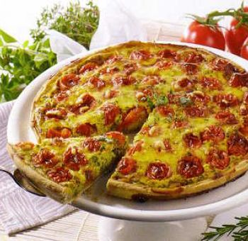 Quiche de tomates végétalienne